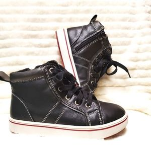 Steve Madden Kids Black High Top Sneakers Size 13